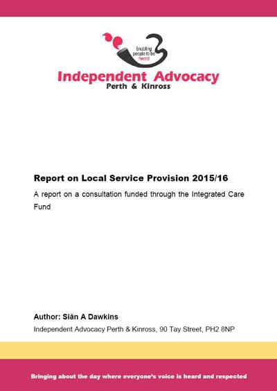 Local Service Provision 2015-2016