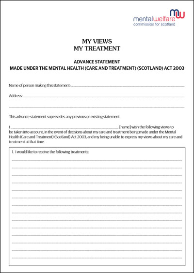 Advanced Statement Form